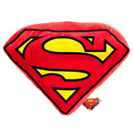 DC Comics Pillow Shaped Superman Logo 45 x 45 cm