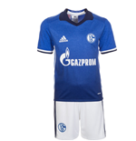 2016-2017 Schalke Adidas Home Little Boys Mini Kit