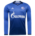 2016-2017 Schalke Adidas Home Long Sleeve Shirt