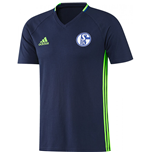 2016-2017 Schalke Adidas Training Tee (Dark Blue)