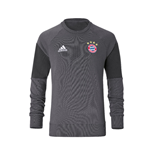 2016-2017 Bayern Munich Adidas Sweat Top (Granite) - Kids