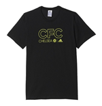 2016-2017 Chelsea Adidas Cotton Tee (Black)