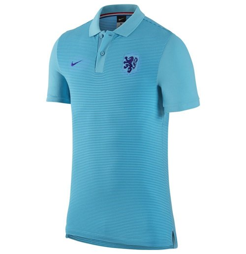 2016 2017 Holland Nike Authentic GS Slim Polo Shirt (Clearwater)