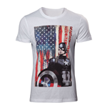MARVEL COMICS Adult Male Captain America: Civl War Stars and Stripes T-Shirt, Medium, White