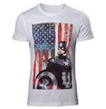 Captain America Civil War T-Shirt American Flag