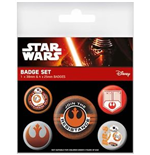 Star Wars Episode VII Badge Pack - Resistance