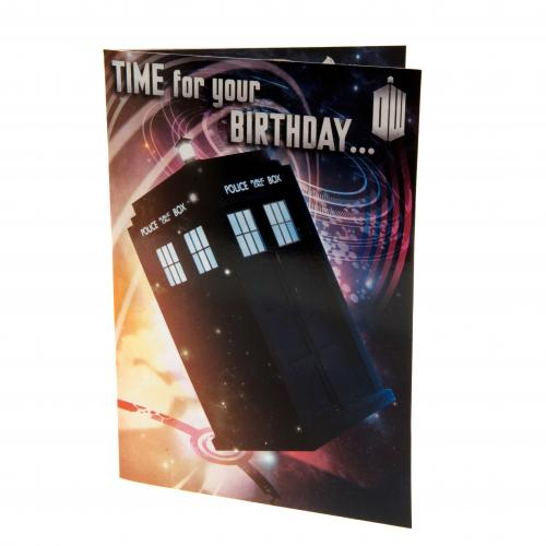 Doctor Who Birthday Card Musical
