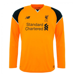 2016-2017 Liverpool Away Long Sleeve Goalkeeper Shirt (Orange)