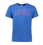 2016-2017 Man Utd Adidas Core Cotton Tee (Blue)