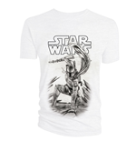 Star Wars T-Shirt Boba Fett Black & White