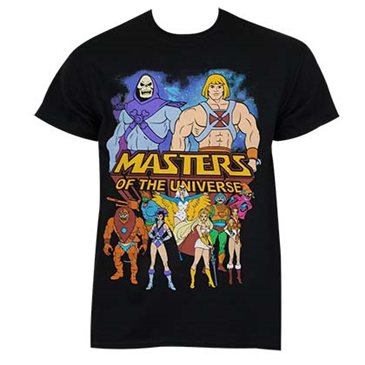 He-Man Masters Of The Universe Black Logo Tee Shirt