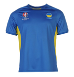 Ukraine UEFA Euro 2016 Poly Training Tee (Blue)