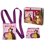 Masha and the Bear (Dots) shoulder bag + wallet