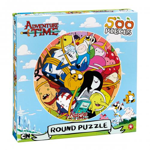 Adventure Time Round Puzzle 500pc