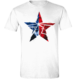 Captain America T-shirt - Civil War - Cracked Star White