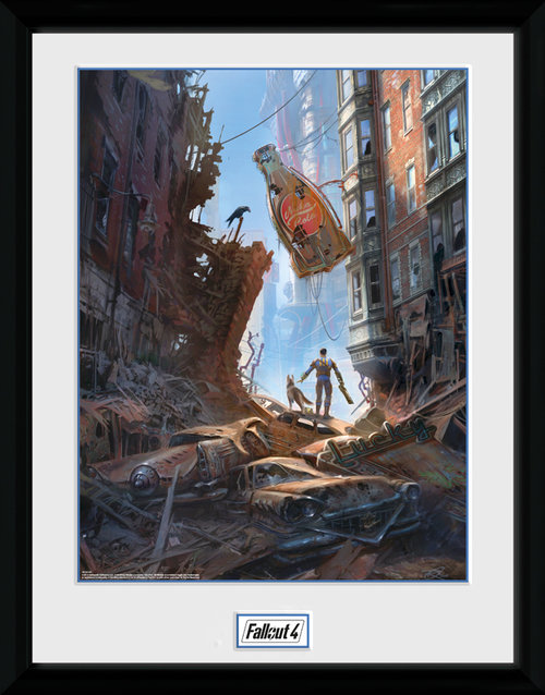 Fallout 4 Street Scene Framed Collector Print