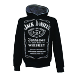 JACK DANIEL'S Adult Male Old No.7 Brand Logo Hoodie, Large, Black/White