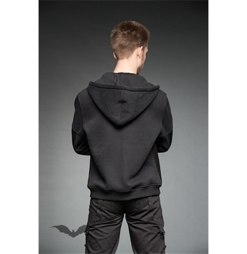 Hoodie jacket with zippers