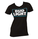 BUD LIGHT Women's Black Tee Shirt