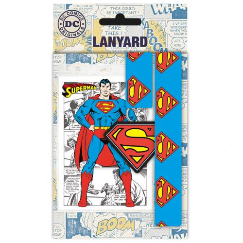Superman Lanyard & Keyring Set