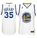 Men's Golden State Warriors Kevin Durant adidas White New Swingman Home Jersey