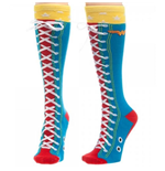 DC Comics WONDER WOMAN Faux Lace Up Knee High Socks
