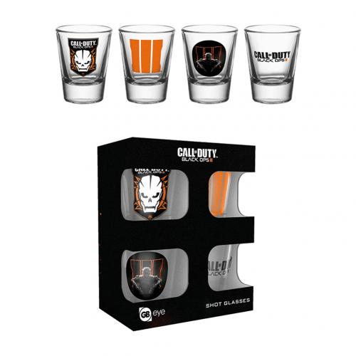 Call Of Duty 4pk Shot Glass Set