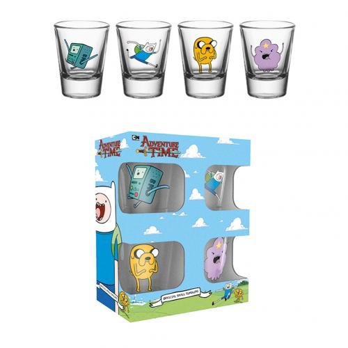 Adventure Time 4pk Shot Glass Set