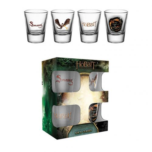 The Hobbit 4pk Shot Glass Set