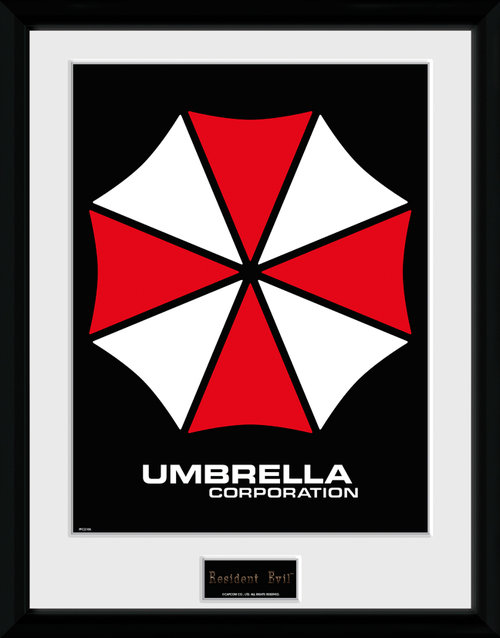 Resident Evil Umbrella Framed Collector Print