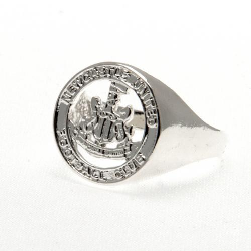 Newcastle United F.C. Silver Plated Crest Ring Small