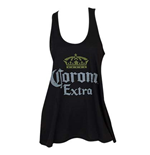 CORONA EXTRA Distressed Logo Women's Black Tank Top