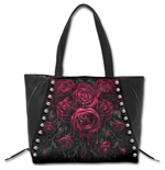 Blood Rose - Tote Bag - Top quality PU Leather Studded