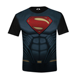 DC COMICS Batman vs Superman: Dawn of Justice Kids Boy Superman Costume T-Shirt, 8/128, Multi-Colour