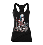 DC COMICS Women's Suicide Squad Harley Quinn Lucky You Tanktop, Large, Black