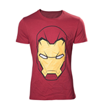 MARVEL COMICS Adult Male Iron Man Mask T-Shirt, Medium, Red