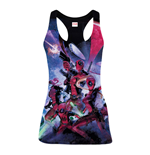 MARVEL COMICS Women's Deadpool Family Sublimation Tanktop, Small, Multi-Colour
