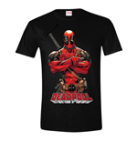 MARVEL COMICS Men's Deadpool Pose T-Shirt, Extra Large, Black
