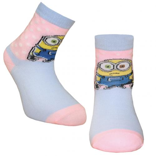 Minions Girls Socks 1 Pack Junior 12.5-3.5 DT