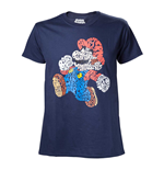 NINTENDO Super Mario Bros. Men's Mario Word Play T-Shirt, Medium, Multi-colour