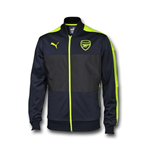 2016-2017 Arsenal Puma Stadium Jacket (Peacot-Yellow)