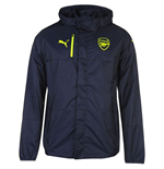 2016-2017 Arsenal Puma Lightweight Rain Jacket (Navy)