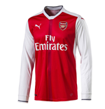 2016-2017 Arsenal Puma Home Long Sleeve Shirt (Kids)