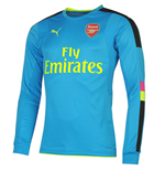 2016-2017 Arsenal Puma Away LS Goalkeeper Shirt (Blue) - Kids