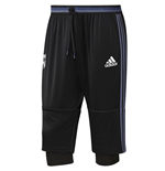 2016-2017 Real Madrid Adidas Three Quarter Length Pants (Black)