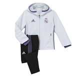 2016-2017 Real Madrid Adidas Mini Presentation Tracksuit (White) - Infants