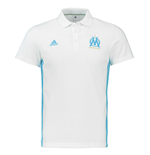 2016-2017 Marseille Adidas 3S Polo Shirt (White)