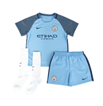 2016-2017 Man City Home Nike Little Boys Mini Kit