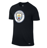 2016-2017 Man City Nike Core Crest Tee (Black)