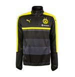 2016-2017 Borussia Dortmund Puma Half Zip Training Top (Black)